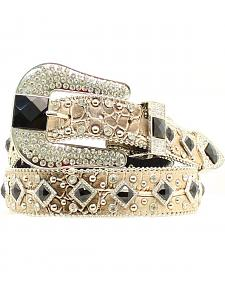 Nocona Women's Metallic Croc Embellished Belt