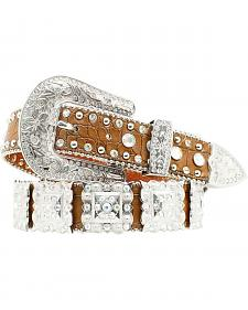 Nocona Women's Brown Croc Embellished Belt