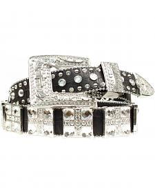 Blazin Roxx Croc Square Cross Belt