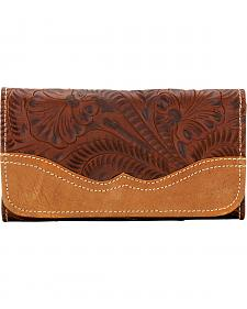 American West Women's Birds of a Feather Leather Tri-Fold Wallet