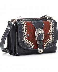 American West Women's Texas Two-Step Mini Crossbody Bag