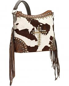 American West Women's Home on the Range Zip-Top Fringe Bag