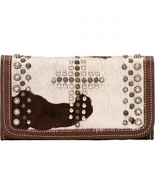 American West Women's Home on the Range Leather Tri-Fold Wallet