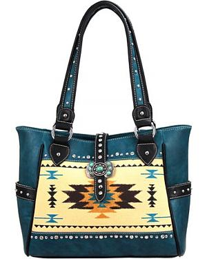 Montana West Aztec Print Tote Handbag