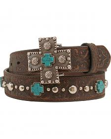 Ariat Silver and Turquoise Cross Belt