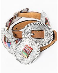 Nocona Women's Thin Multicolored Concho Belt