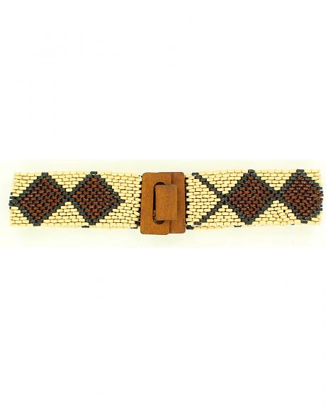 Nocona Wooden Beaded Stretch Belt