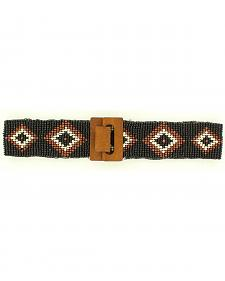 Nocona Diamond Beaded Stretch Belt