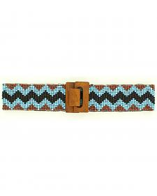 Nocona Chevron Beaded Stretch Belt