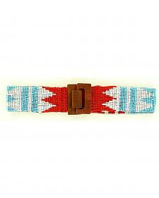 Nocona Southwest Beaded Stretch Belt