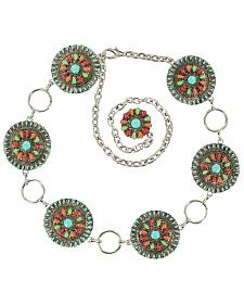 Nocona Colorful Concho Chain Belt