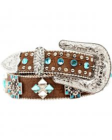 Blazin Roxx Faux Croc Cross Concho Belt