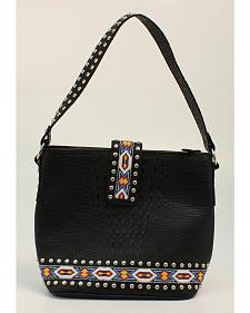 Blazin Roxx Bead Ribbon Black Shoulder Bag