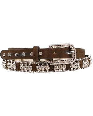 Nocona Metal Bar Crystal Belt
