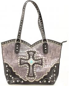 Blazin Roxx Silver Boot Top Croc Cross Bag