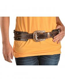 Angel Ranch Women's Studded Leather Belt