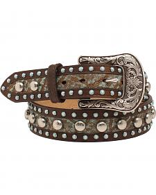 "Ariat 1 1/2"" Turq Stone Nailhead Belt"