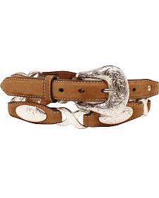 "Ariat 1 1/2"" Oval Concho Linked Belt"
