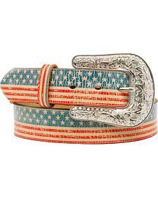 Blazin Roxx American Flag Belt