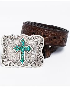 Blazin Roxx Diamond Cross Concho Belt