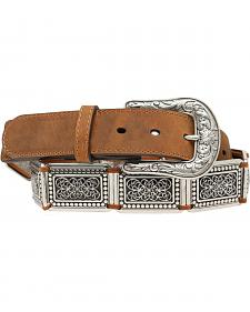Blazin Roxx Silver Concho Links Belt