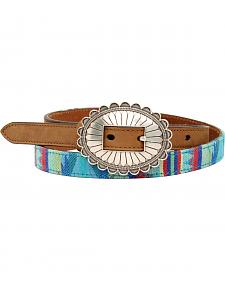 Blazin Roxx Thin Southwest Fabric Belt