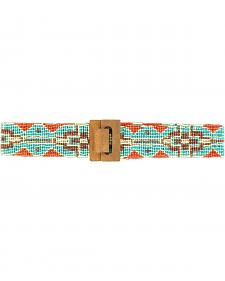 Blazin Roxx Women's Wide Beaded Tribal Belt