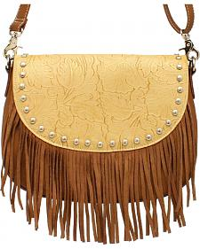 Blazin Roxx Women's Fringe Round Concho Shoulder Bag