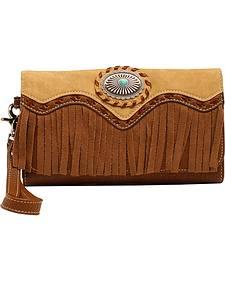 Blazin Roxx Fringe Concho Clutch Wallet