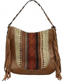 Blazin Roxx Multi-Fabric Fringe Shoulder Bag