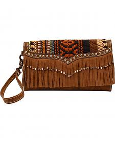 Blazin Roxx Multi Fabric Fringe Clutch Wallet