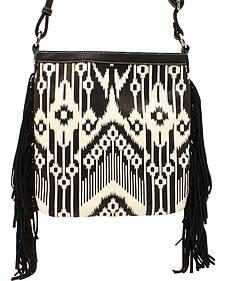 Blazin Roxx Women's Aztec Fringe Messenger Bag