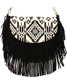 Blazin Roxx Women's Aztec Fringe Shoulder Bag