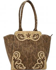 Blazin Roxx Women's Snake Skin Star Large Shoulder Bag
