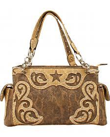 Blazin Roxx Snakeskin Star Large Shoulder Bag