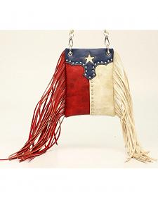 Blazin Roxx Women's Texas Flag Fringe Crossbody Bag
