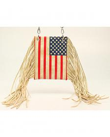 Blazin Roxx Women's American Flag Fringe Crossbody Bag