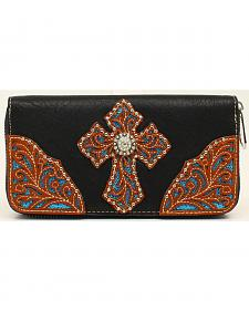 Blazin Roxx Studded Cross Wallet