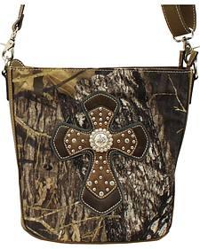 Blazin Roxx Camo Concealed Carry Cross Shoulder Bag