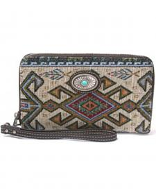 Montana West Western Aztec Collection Gray Wallet