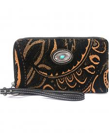 Montana West Western Aztec Collection Black Wallet
