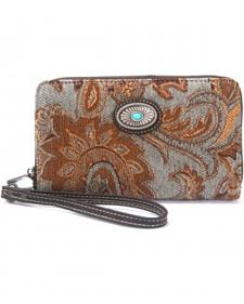 Montana West Western Aztec Collection Turquoise Wallet