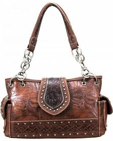 Montana West Trinity Ranch Collection Brown Satchel