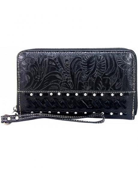 Montana West Trinity Ranch Collection Studded Wallet