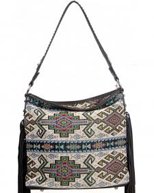 Montana West Western Aztec Collection Gray Handbag