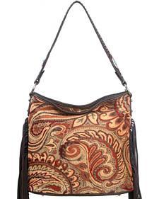 Montana West Western Aztec Collection Brown Handbag