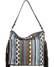 Montana West Western Aztec Collection Blue Handbag