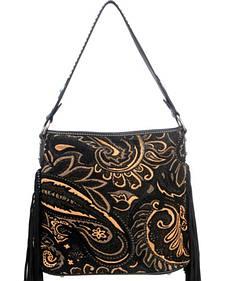 Montana West Western Aztec Collection Black Handbag