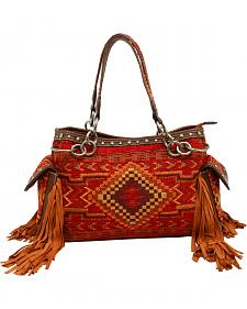 Blazin Roxx Indian Blanket Satchel Bag