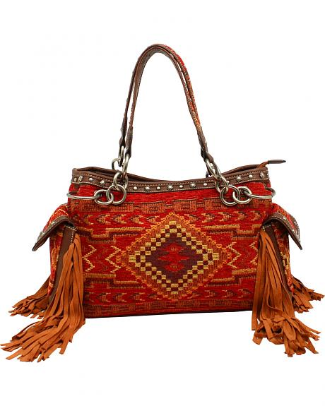 Blazin Roxx Indian Blanket Satchel Bag